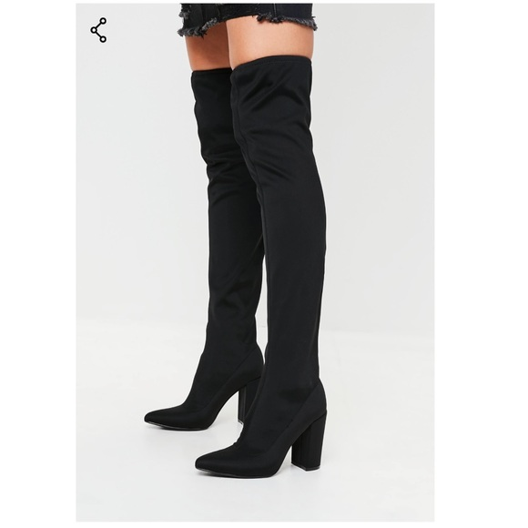 d0a515e707e Missguided Pointed Neoprene Over The Knee Boots. M 5bed8f49c89e1df5a916df07